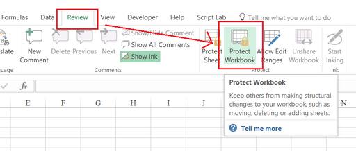 Cách khóa file excel bằng Protect an Excel File