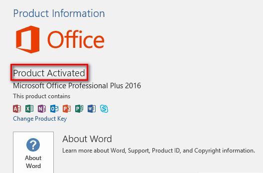 Key Office 2016
