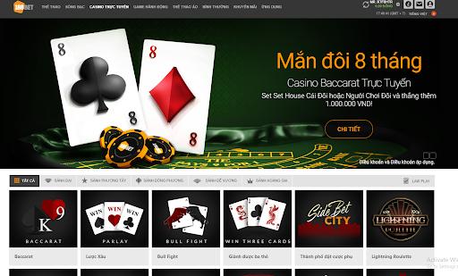 Nhà cái 188bet hoàn trả cược Casino online 0,76%